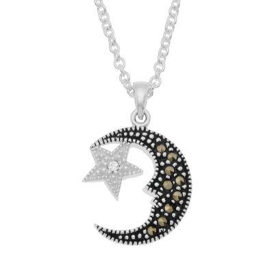Sparkle Allure Le Vieux Silver Over Brass Pendant Necklace