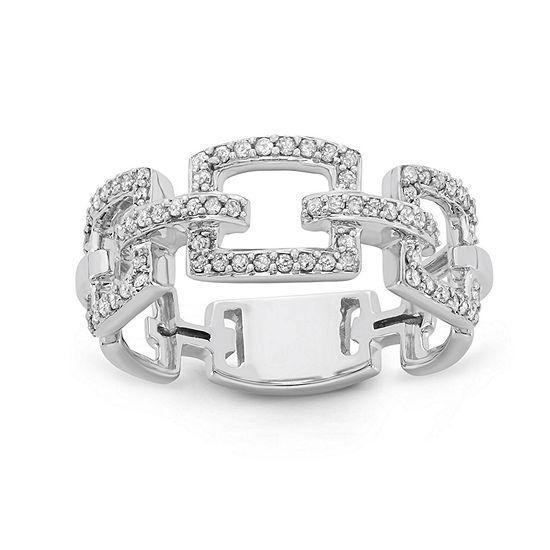 Womens 1/3 CT. T.W. Genuine White Diamond 10K Gold Band