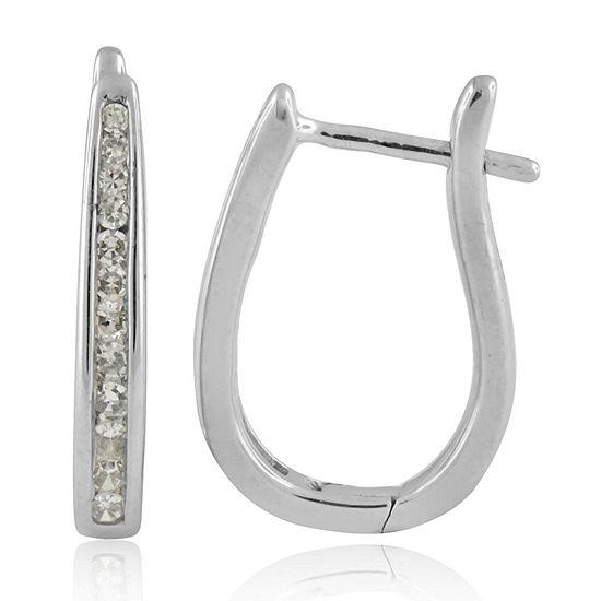 d47c9de16 1/4 CT. T.W. Genuine White Diamond 10K Gold Hoop Earrings - JCPenney