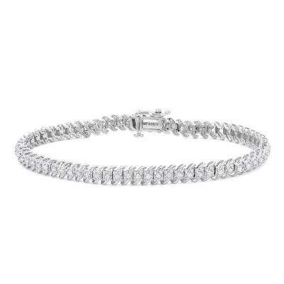 Womens 1 CT. T.W. White Diamond 10K Gold Tennis Bracelet