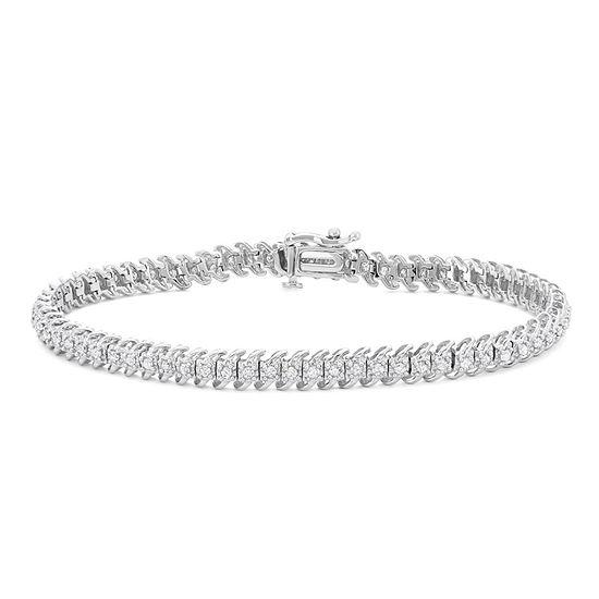 1 CT. T.W. Genuine White Diamond 10K Gold 7 Inch Tennis Bracelet