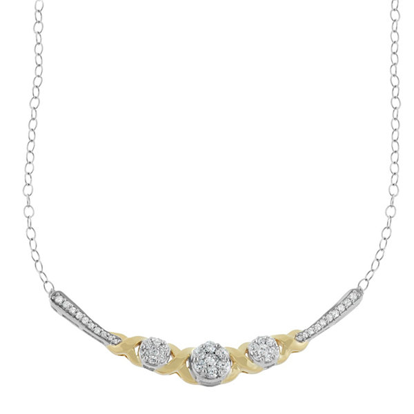 1/2 CT. T.W. White Diamond 10K Statement Necklace