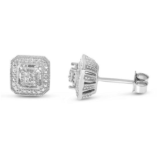 Diamond Accent Genuine White Diamond Sterling Silver Stud Earrings
