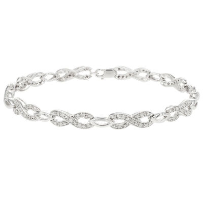 1/3 CT. T.W. Genuine White Diamond Sterling Silver 7 Inch Tennis Bracelet