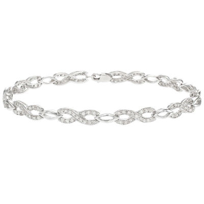3/4 CT. T.W. Genuine White Diamond Sterling Silver 7 Inch Tennis Bracelet