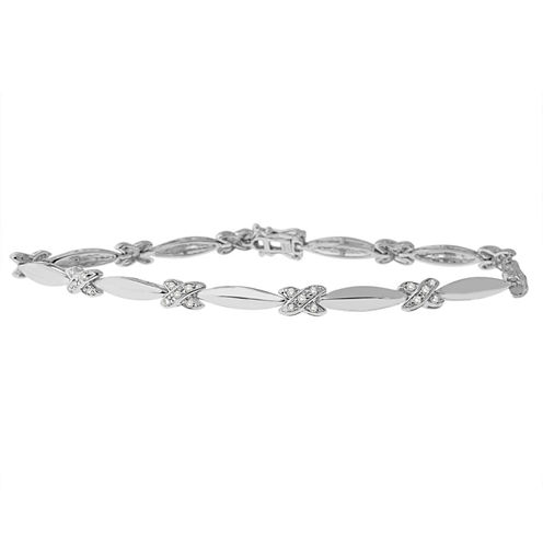 Womens 1/2 CT. T.W. White Diamond Sterling Silver Tennis Bracelet