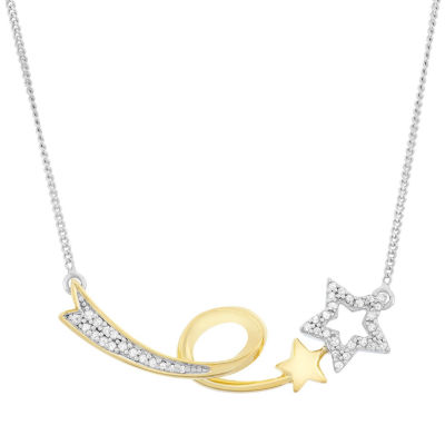 1/7 CT. T.W. White Diamond Statement Necklace