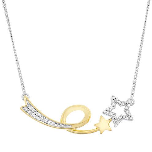 1/7 CT. T.W. White Diamond Statement Necklace