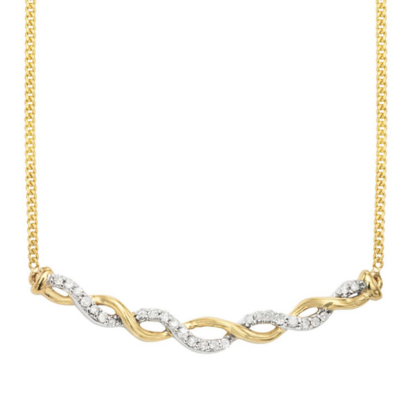 1/8 CT. T.W. White Diamond Statement Necklace