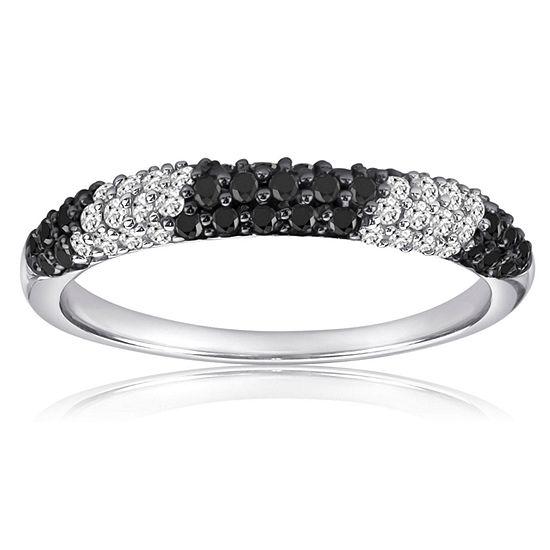 3 Mm 1/2 CT. T.W. Black Diamond Sterling Silver Band