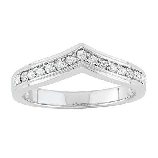 3.5 Mm 1/4 CT. T.W. Genuine White Diamond Sterling Silver Band