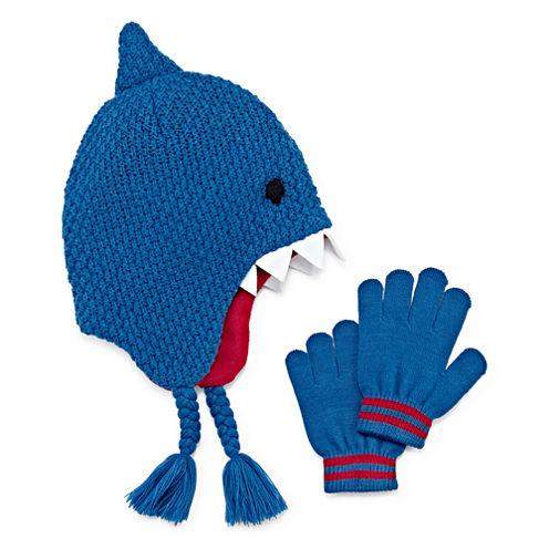Shark Hat & Gloves Set - Preschool Boys