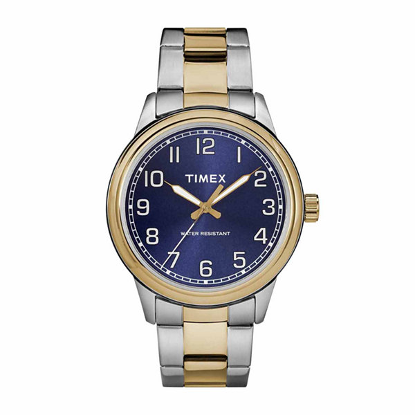 Timex New England Mens Two Tone Bracelet Watch-Tw2r36600jt