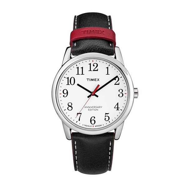 Timex Easy Reader 40th Anniversary Mens Black Strap Watch-Tw2r40000jt