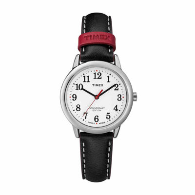 Timex Easy Reader 40th Anniversary Womens Black Strap Watch-Tw2r40200jt