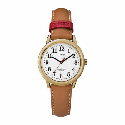 Timex Easy Reader 40th Anniversary Womens Brown Strap Watch-Tw2r40300jt
