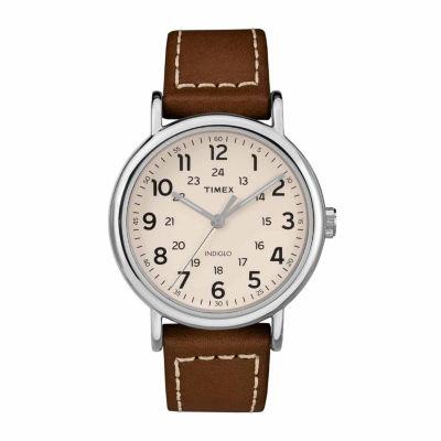 Timex Weekender 40 Mens Brown Strap Watch-Tw2r424009j