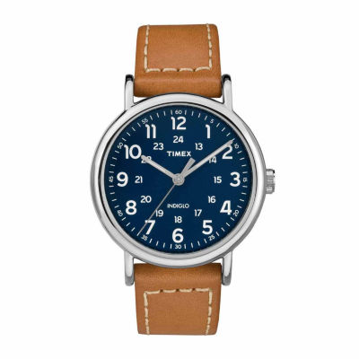 Timex Weekender 40 Mens Brown Strap Watch-Tw2r42500jt