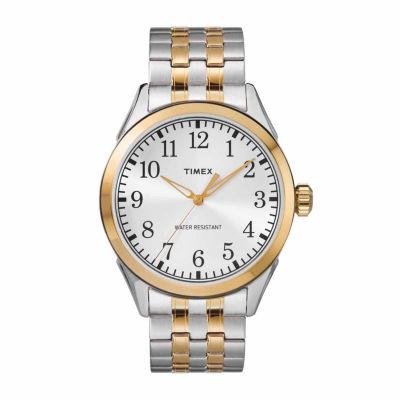Timex Briarwood Mens Two Tone Bracelet Watch-Tw2r48100jt