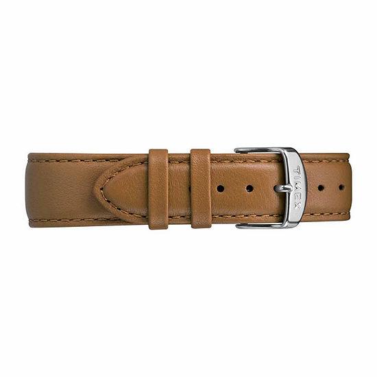 Timex Metropolitan Skyline Mens Brown Leather Strap Watch-Tw2r49700jt