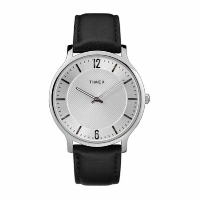 Timex Metropolitan Skyline Mens Black Strap Watch-Tw2r500009j