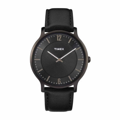Timex Metropolitan Skyline Mens Black Strap Watch-Tw2r50100jt