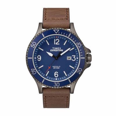 Timex Expedition Ranger Mens Brown Strap Watch-Tw4b107009j
