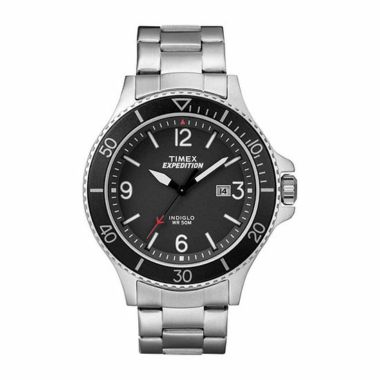 Timex Expedition Ranger Mens Silver Tone Stainless Steel Bracelet Watch-Tw4b109009j