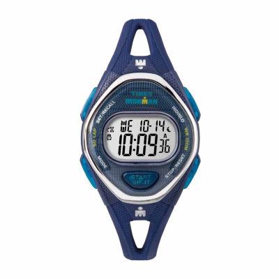 Timex Ironman Sleek 50 Mid-Size Womens Blue Strap Watch-Tw5m136009j