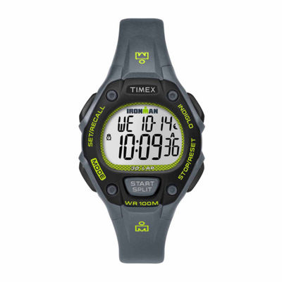 Timex Ironman Classic 30 Mid-Size Womens Gray Strap Watch-Tw5m140009j