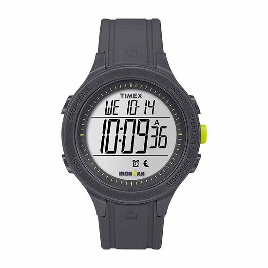 Timex Ironman Essential 30 Full-Size Mens Digital Black Strap Watch-Tw5m14500jt