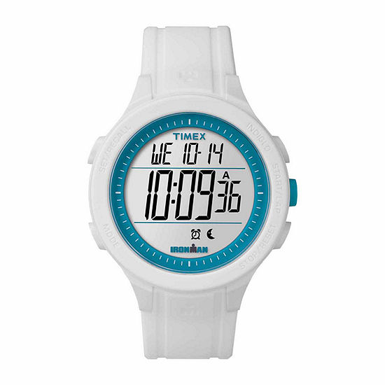 Timex Ironman Essential 30 Full-Size Unisex White Strap Watch-Tw5m148009j