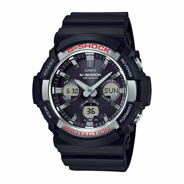 Casio Mens Black Strap Watch-Gas100-1a