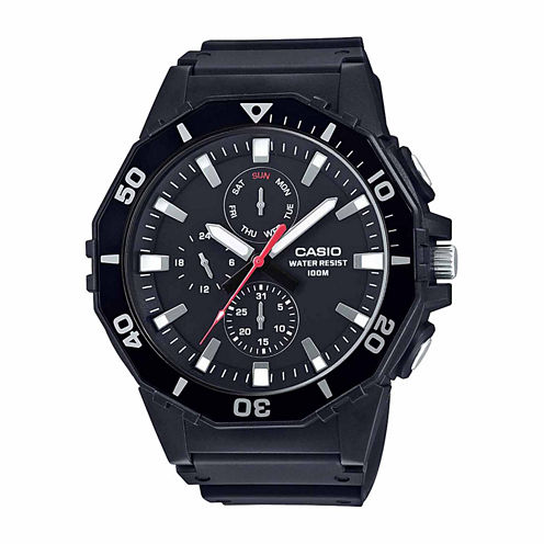 Casio Mens Black Strap Watch-Mrw400h-1a
