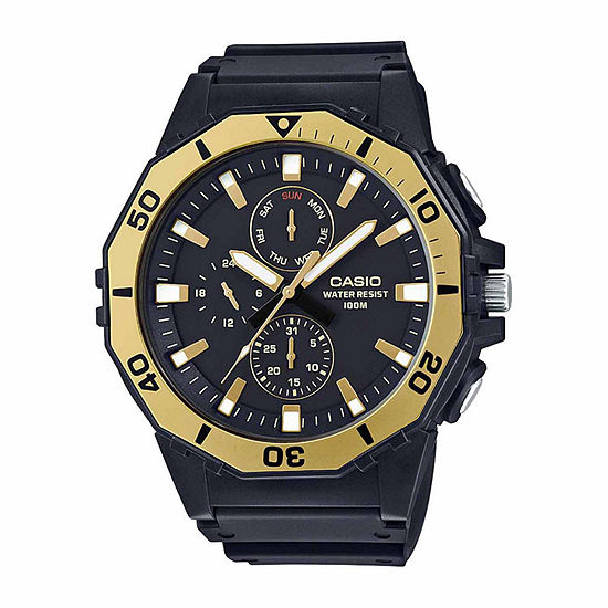 Casio Mens Black Strap Watch-Mrw400h-9a
