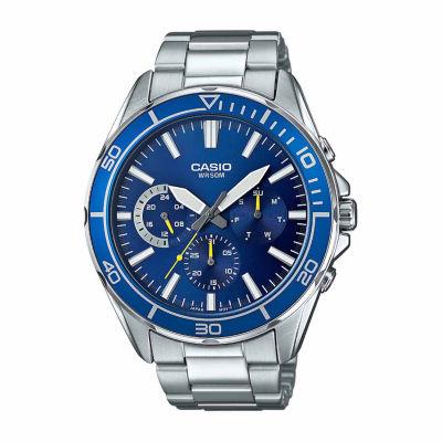 Casio Mens Silver Tone Bracelet Watch-Mtd320d-2a