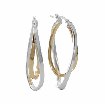 14K GOLD OVER SILVER 42.1mm Hoop Earrings