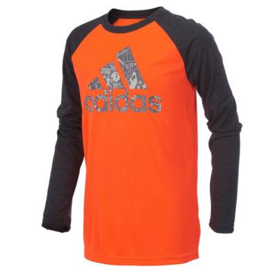 adidas Long Sleeve T-Shirt-Preschool Boys