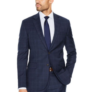 Stafford Plaid Slim Fit Suit Jacket