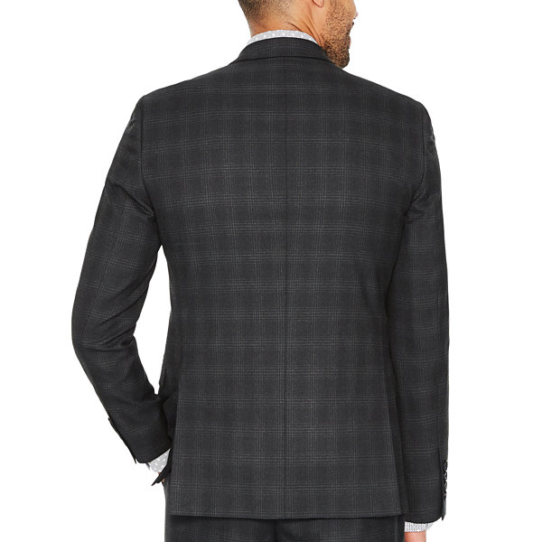 JF J.Ferrar Plaid Suit Jacket-Slim Fit