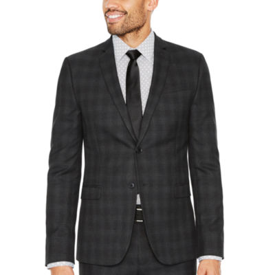 JF J.Ferrar Plaid Slim Fit Suit Jacket-Slim