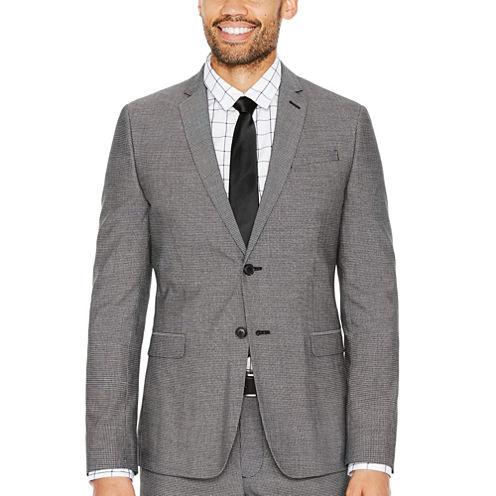 JF J.Ferrar Checked Slim Fit Stretch Suit Jacket