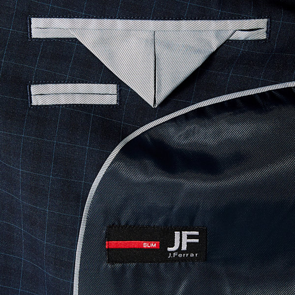 JF J.Ferrar Checked Slim Fit Suit Jacket-Slim