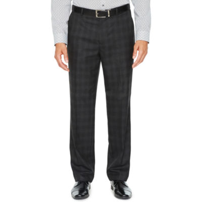 JF J.Ferrar Plaid Stretch Slim Fit Suit Pants - Slim