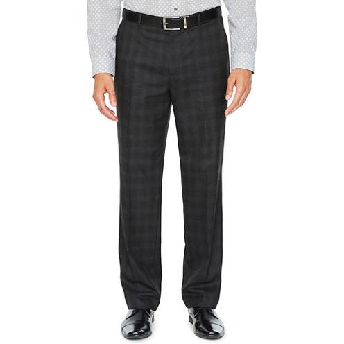 JF J.Ferrar Plaid Stretch Slim Fit Suit Pants - Slim