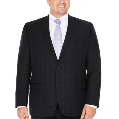 Collection by Michael Strahan Black WIndowpane Classic Fit Suit Jacket-Big and Tall