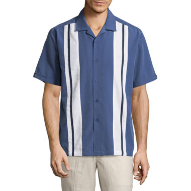 Havanera Short Sleeve Panel Button-Front Shirt