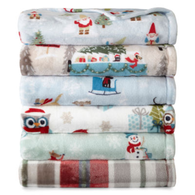 North Pole Trading Co Velvet Plush Throw