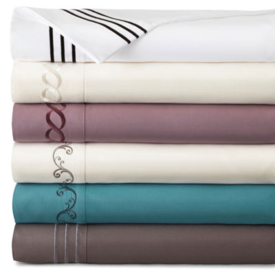 JCPenney Home™ Premium Embroidered Microfiber Sheet Sets