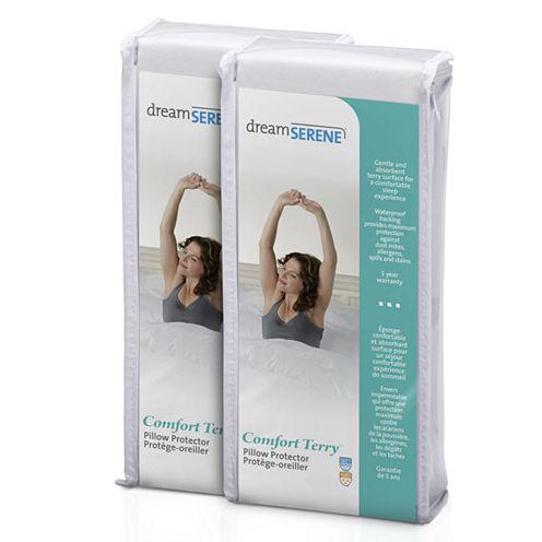 Dreamserene Comfort Terry Waterproof Pillow Protector